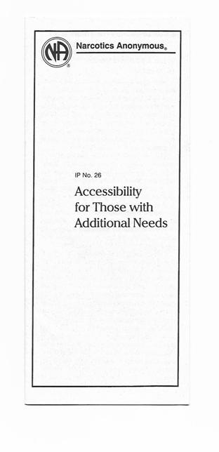 IP 26 Accessibility for Those With Additional Needs